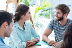 Creative business people in discussion Royalty Free Stock Image