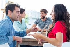 Creative business people in discussion Stock Photo