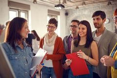 Creative business people meeting in office Stock Image