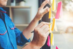 Creative business planning and thinking of ideas for success wor Stock Photo