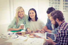 Creative business professionals working in office Stock Images
