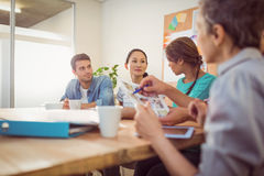 Creative business team discussing in the office Royalty Free Stock Image