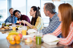 Creative business team having meal Royalty Free Stock Image