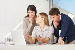 Creative business team at laptop Royalty Free Stock Photos