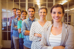 Creative business team looking at the camera. Group portrait of a smiling creative business team looking at the camera Stock Photo