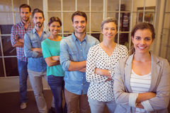 Creative business team looking at the camera Stock Photos