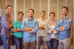 Creative business team looking at the camera Royalty Free Stock Photo