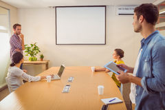 Creative business team making a presentation Royalty Free Stock Photography