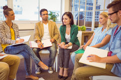 Creative business team in meeting Royalty Free Stock Photography