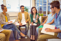 Creative business team in meeting Stock Photos