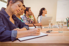 Creative business team in meeting Royalty Free Stock Photo