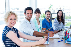 Creative business team in meeting Stock Photo