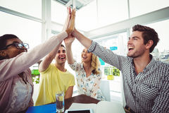 Creative business team working hard together Royalty Free Stock Photography