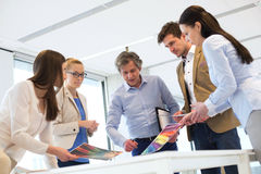 Creative business team working on new project at office royalty free stock photo