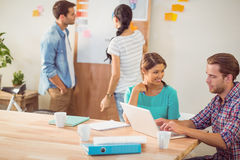 Creative business team working together Royalty Free Stock Images