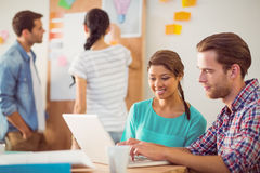 Creative business team working together Stock Photos