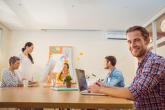Creative business team working together Royalty Free Stock Photography