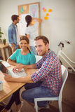 Creative business team working together Royalty Free Stock Photo
