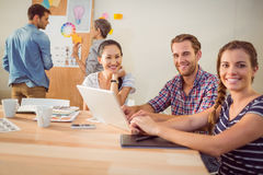 Creative business team working together Royalty Free Stock Photos