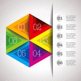 Creative business template in colourful shape Stock Photo