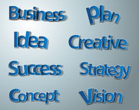 Creative business words set Royalty Free Stock Image