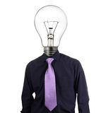 Creative businessman with bulb head Royalty Free Stock Image