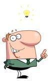 Creative Businessman Has Lightbulb Moment. Cartoon Creative Businessman Has Lightbulb Moment vector illustration