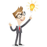 Creative businessman having an idea vector illustration