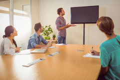 Creative businessman making a presentation Stock Photography