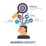 Creative Businessman presentation template Infographic elements flat design set for brochure flyer leaflet marketing. Advertising royalty free illustration