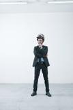 Creative businessman with steampunk helmet Royalty Free Stock Photo