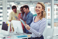 Creative businessteam working hard together Royalty Free Stock Photo