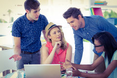 Creative businessteam working hard together Stock Photo