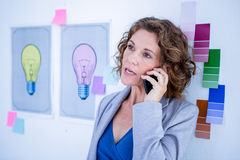 Creative businesswoman having phone call Royalty Free Stock Images