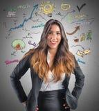 Creative businesswoman Stock Photography