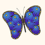 Creative Butterfly with flowers Royalty Free Stock Image