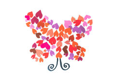 Creative butterfly paper on white background Stock Photo