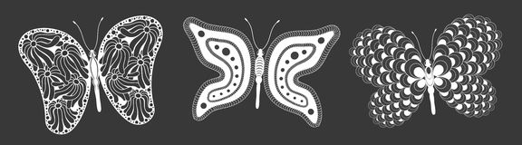 Creative Butterfly Set Stock Image