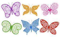 Creative Butterfly set Royalty Free Stock Photography
