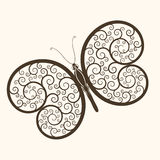 Creative Butterfly with swirls Royalty Free Stock Image