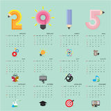 Creative calendar 2015 design template with business or educatio Stock Photo