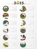 Creative calendar of New Year 2015. Stock Photo