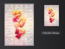 Creative Calendar Planner for 2017. Creative Calendar Planner design with abstract 3D text 2017 for New Year celebration Stock Photos
