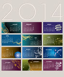 2014 Creative Calendar. For Print or Web Stock Photo