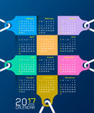 Creative calendar simple vector template.  Stock Images