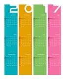 Creative calendar simple vector template.  Stock Photo