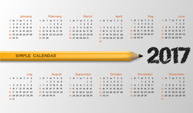 Creative calendar simple vector template.  Royalty Free Stock Images