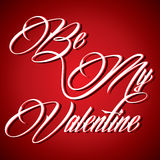 Creative calligraphy of text Be My Valentine Stock Photos