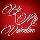 Creative calligraphy of text Be My Valentine. Illustration of Creative calligraphy of text Be My Valentine Stock Photos