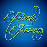 Creative calligraphy of text Friends Forever. Vector illustration Stock Images